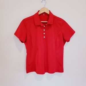 Nike Fit Dri Golf Polo Shirt Size Large FITTED